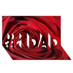 Beautifully Red #1 DAD 3D Greeting Card (8x4)