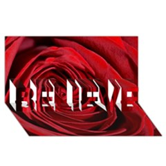 Beautifully Red BELIEVE 3D Greeting Card (8x4)