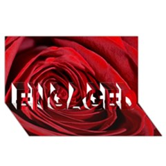 Beautifully Red Engaged 3d Greeting Card (8x4)