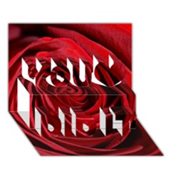 Beautifully Red You Did It 3d Greeting Card (7x5)