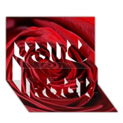 Beautifully Red You Rock 3D Greeting Card (7x5)
