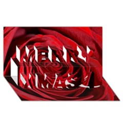 Beautifully Red Merry Xmas 3D Greeting Card (8x4)
