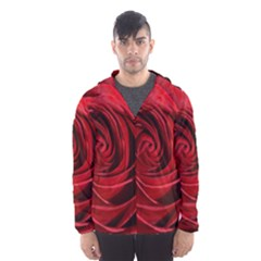Beautifully Red Hooded Wind Breaker (Men)