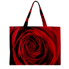 Beautifully Red Zipper Tiny Tote Bags