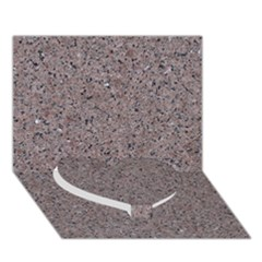 GRANITE RED-GREY Heart Bottom 3D Greeting Card (7x5)