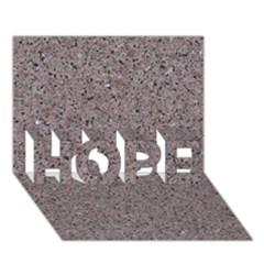GRANITE RED-GREY HOPE 3D Greeting Card (7x5)