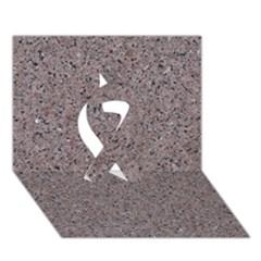 GRANITE RED-GREY Ribbon 3D Greeting Card (7x5)