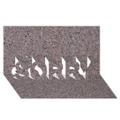 GRANITE RED-GREY SORRY 3D Greeting Card (8x4)