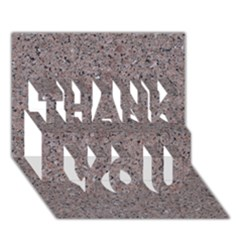 GRANITE RED-GREY THANK YOU 3D Greeting Card (7x5)