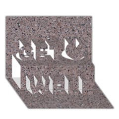 GRANITE RED-GREY Get Well 3D Greeting Card (7x5)