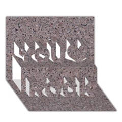 GRANITE RED-GREY You Rock 3D Greeting Card (7x5)
