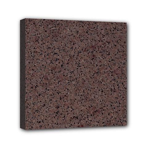 Granite Red Brown Mini Canvas 6  X 6