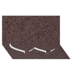 Granite Red Brown Twin Heart Bottom 3d Greeting Card (8x4)
