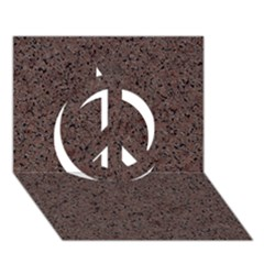 Granite Red Brown Peace Sign 3d Greeting Card (7x5)