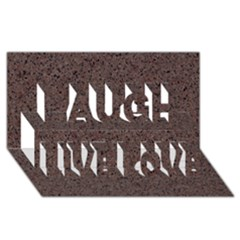 Granite Red Brown Laugh Live Love 3d Greeting Card (8x4)