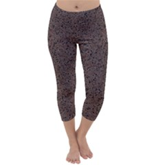 GRANITE RED-BROWN Capri Winter Leggings