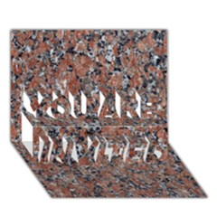 Granite Red Black You Are Invited 3d Greeting Card (7x5)