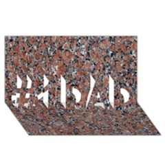GRANITE RED-BLACK #1 DAD 3D Greeting Card (8x4)