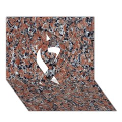 GRANITE RED-BLACK Ribbon 3D Greeting Card (7x5)
