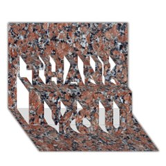 GRANITE RED-BLACK THANK YOU 3D Greeting Card (7x5)