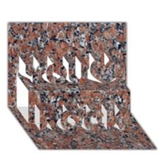 GRANITE RED-BLACK You Rock 3D Greeting Card (7x5)