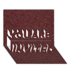 GRANITE RED 1 YOU ARE INVITED 3D Greeting Card (7x5)