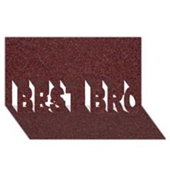 GRANITE RED 1 BEST BRO 3D Greeting Card (8x4)