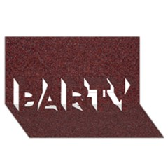 GRANITE RED 1 PARTY 3D Greeting Card (8x4)