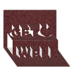 Granite Red 1 Get Well 3d Greeting Card (7x5)