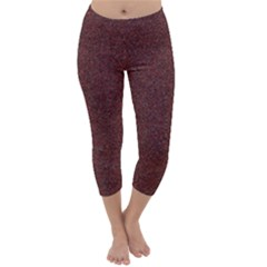 GRANITE RED 1 Capri Winter Leggings