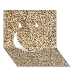 Granite Brown 3 Heart 3d Greeting Card (7x5)