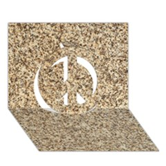 GRANITE BROWN 3 Peace Sign 3D Greeting Card (7x5)