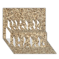 Granite Brown 3 Work Hard 3d Greeting Card (7x5)