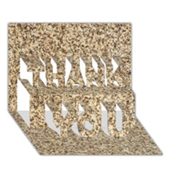 GRANITE BROWN 3 THANK YOU 3D Greeting Card (7x5)