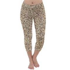 GRANITE BROWN 3 Capri Winter Leggings