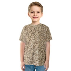 GRANITE BROWN 3 Kid s Sport Mesh Tees