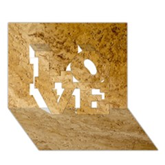 Granite Brown 2 Love 3d Greeting Card (7x5)