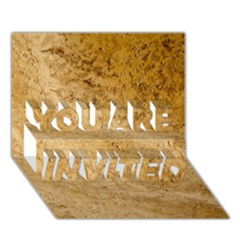 GRANITE BROWN 2 YOU ARE INVITED 3D Greeting Card (7x5)