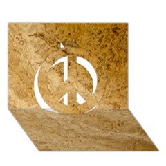 Granite Brown 2 Peace Sign 3d Greeting Card (7x5)