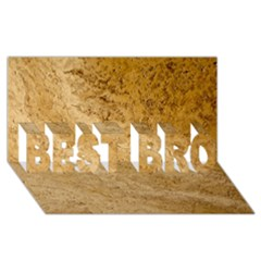 GRANITE BROWN 2 BEST BRO 3D Greeting Card (8x4)