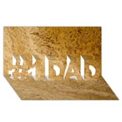 Granite Brown 2 #1 Dad 3d Greeting Card (8x4)