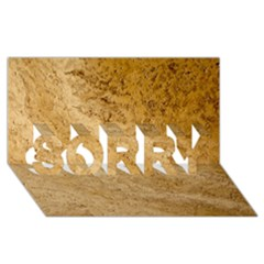 Granite Brown 2 Sorry 3d Greeting Card (8x4)