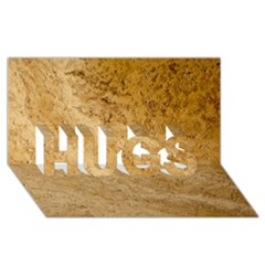 GRANITE BROWN 2 HUGS 3D Greeting Card (8x4)