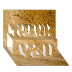 GRANITE BROWN 2 THANK YOU 3D Greeting Card (7x5)