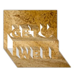 Granite Brown 2 Get Well 3d Greeting Card (7x5)