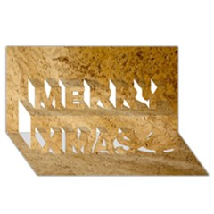 GRANITE BROWN 2 Merry Xmas 3D Greeting Card (8x4)