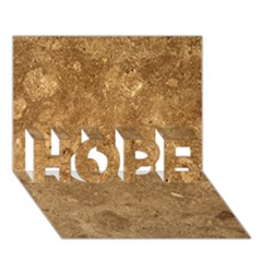 GRANITE BROWN 1 HOPE 3D Greeting Card (7x5)