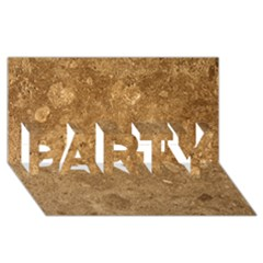GRANITE BROWN 1 PARTY 3D Greeting Card (8x4)
