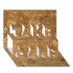 GRANITE BROWN 1 TAKE CARE 3D Greeting Card (7x5)