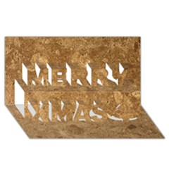 Granite Brown 1 Merry Xmas 3d Greeting Card (8x4)